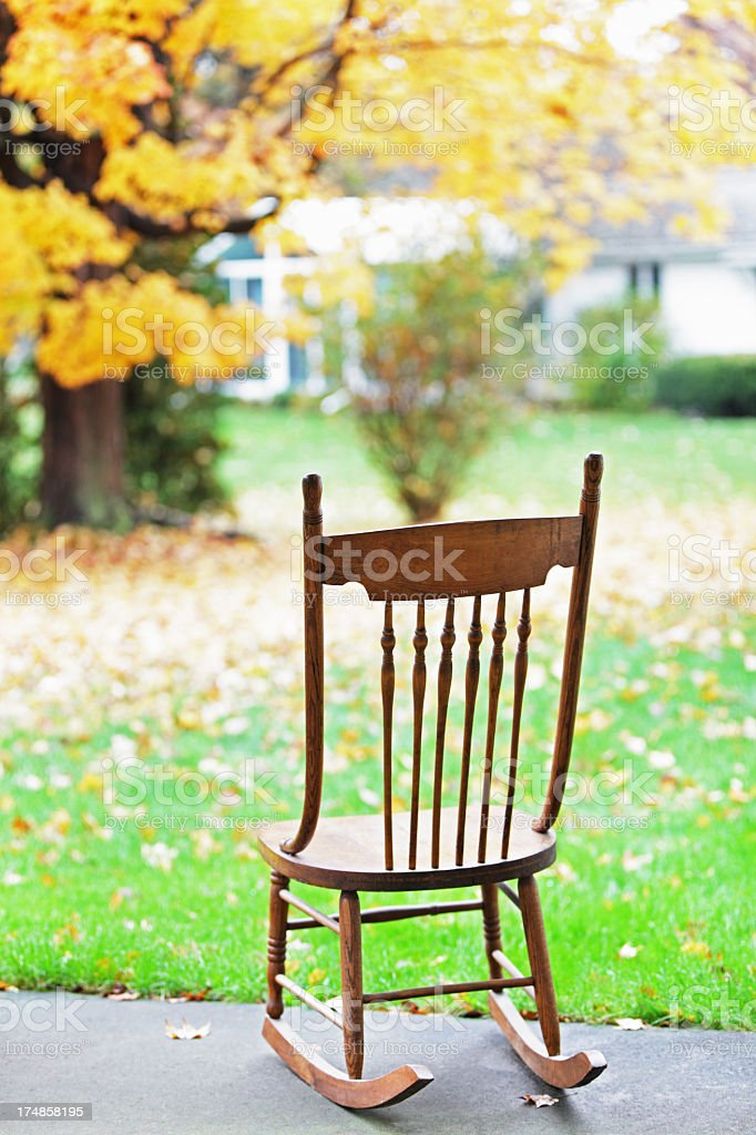 Back Yard Rocking Chair royalty-free stock photo
