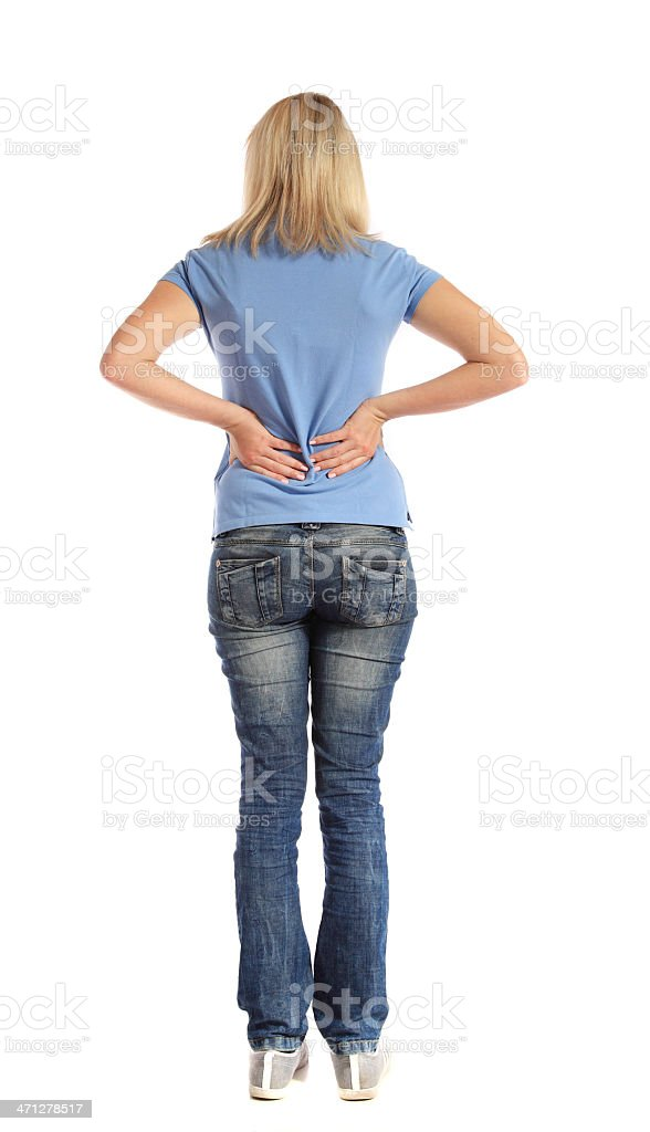 Backache royalty-free stock photo