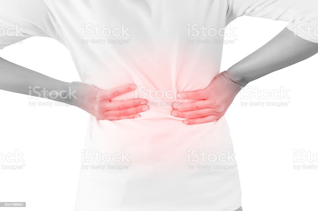 Backache stock photo