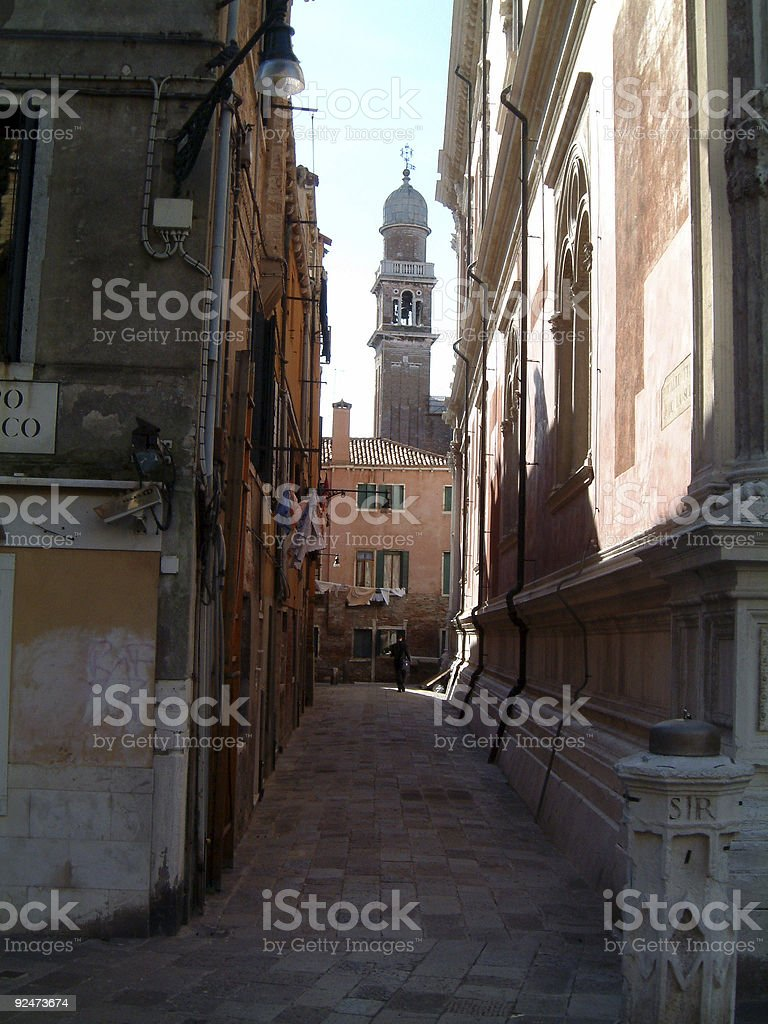 Backalley in Venice royalty-free stock photo