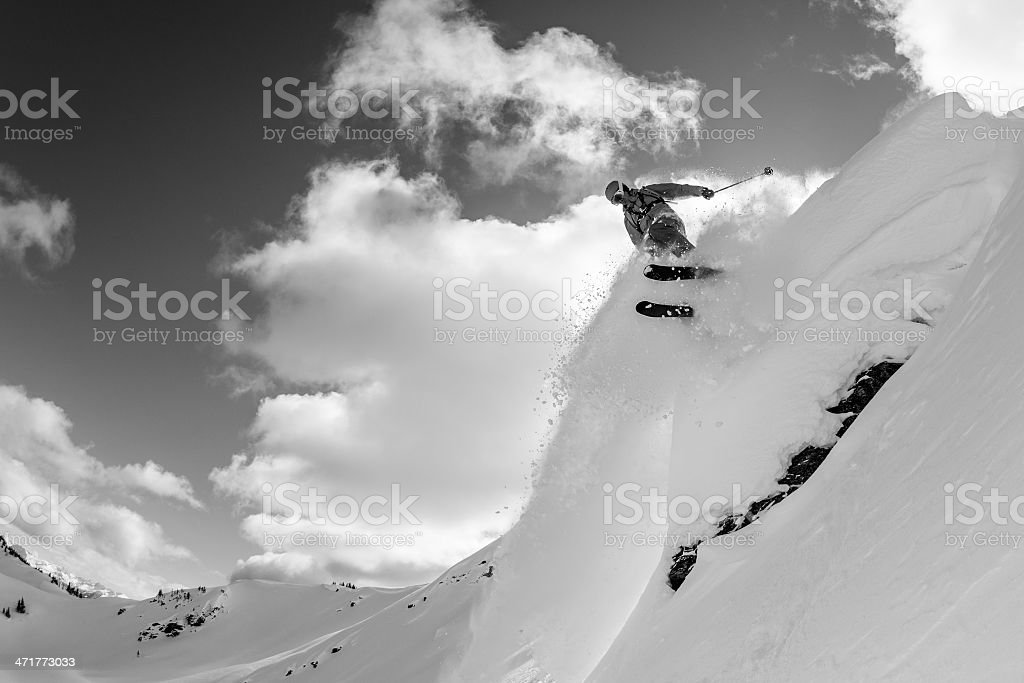 Backcounrty skiing royalty-free stock photo