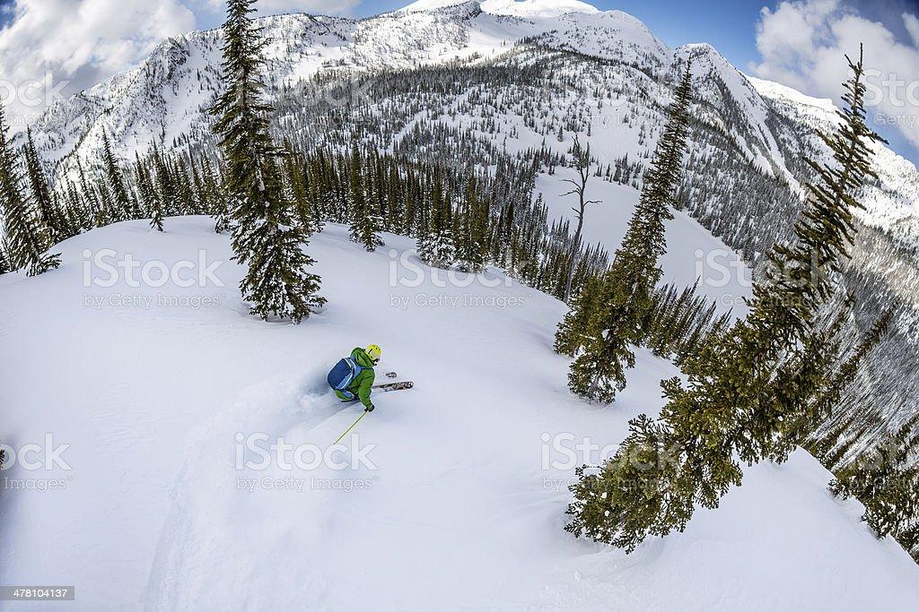 Backcounrty skiing stock photo