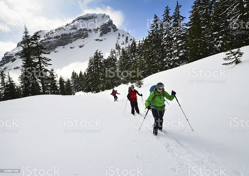 Backcountry Skiers royalty-free stock photo