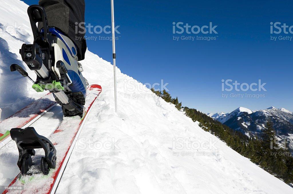Backcountry skiing royalty-free stock photo