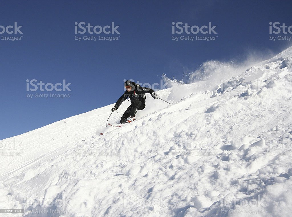 Backcountry skiing royalty-free stock photo