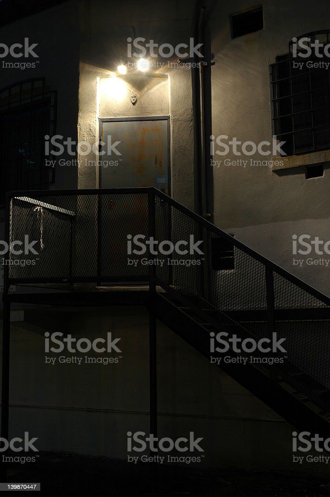Backdoor at Night royalty-free stock photo