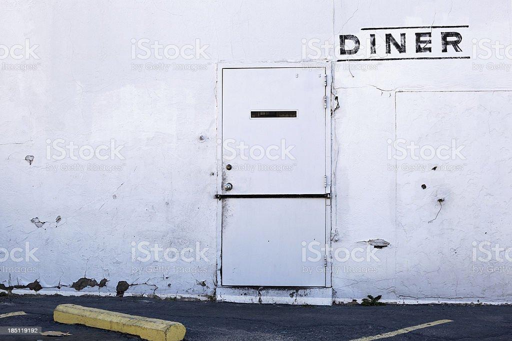 backdoor diner stock photo
