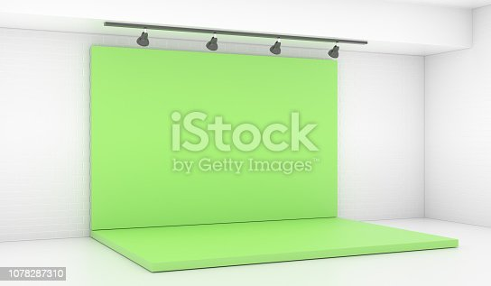 1089180420istockphoto Backdrop Stage in Room with Brick Wall 1078287310