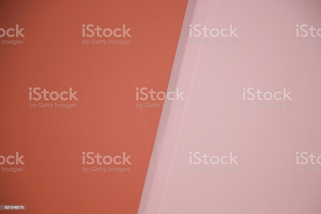 Backdrop Two Tone Pastel Orange Color Wallpaper Texture Clean Surface On The Wall Background Royalty