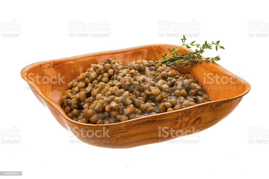 Backed lentils royalty-free stock photo