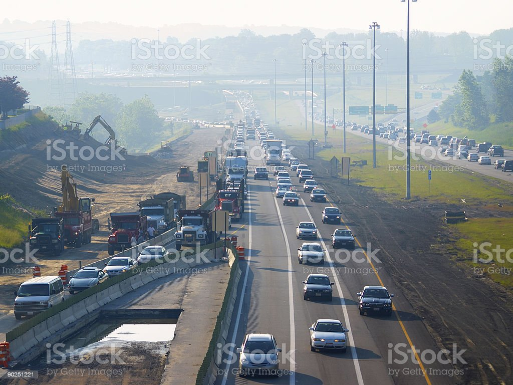 Backed-up rush hour royalty-free stock photo