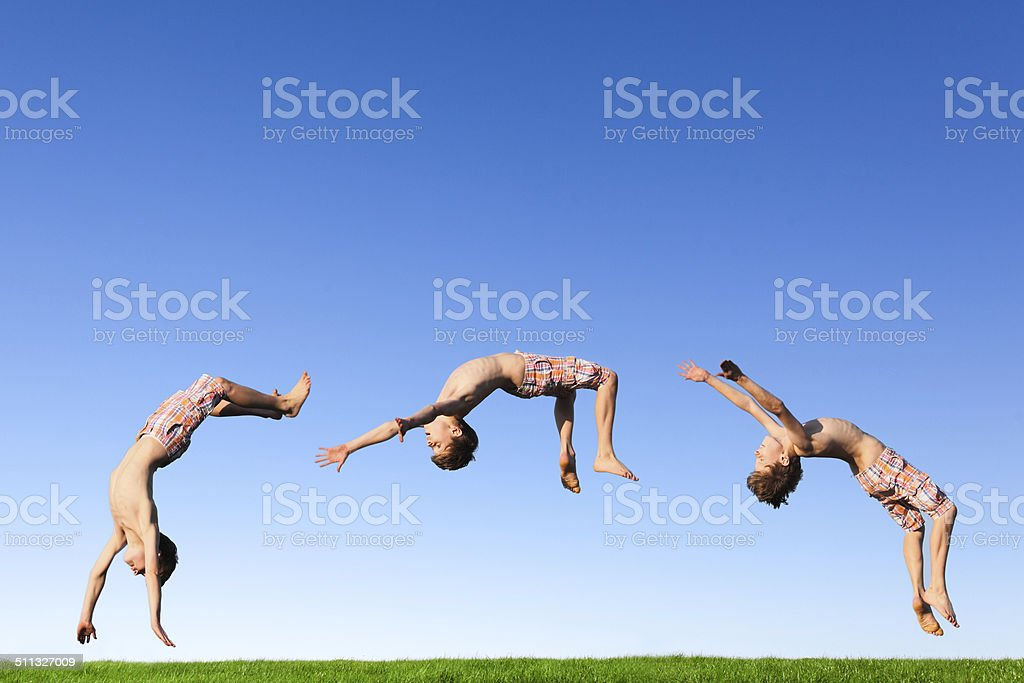 Backflip stock photo