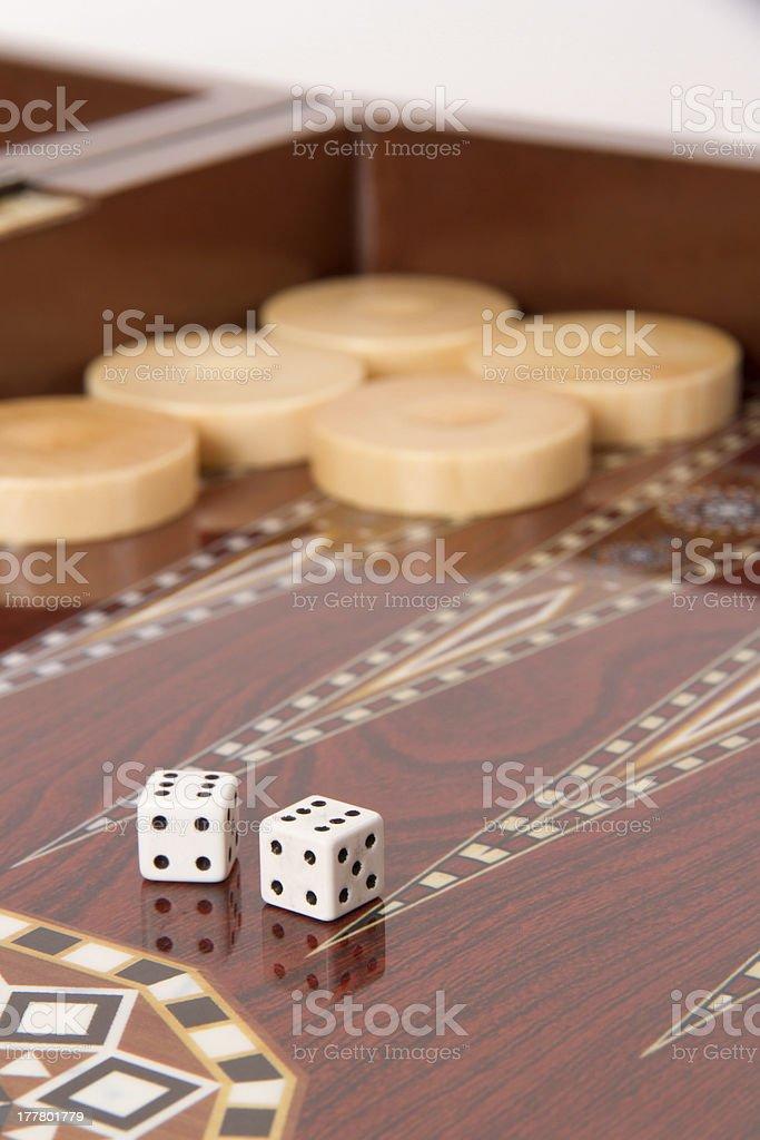 Backgammon et de Double Six - Photo
