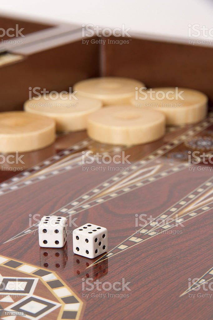 Backgammon and Double Six stock photo