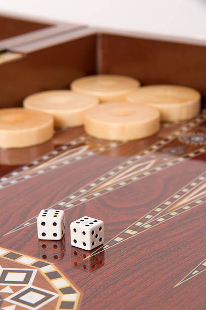 backgammon and double six - backgammon stock pictures, royalty-free photos & images