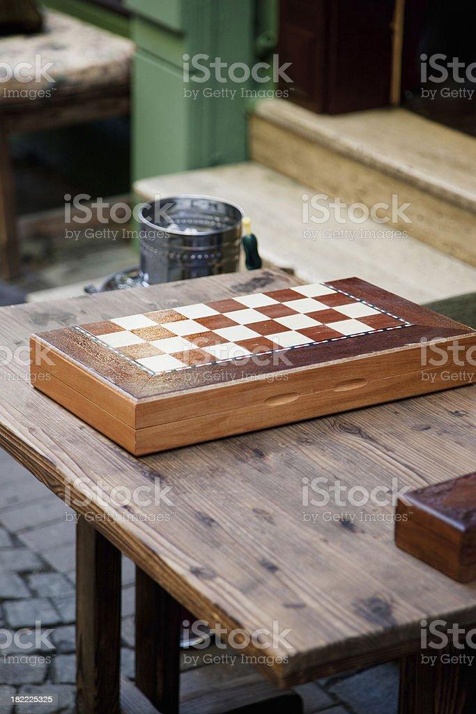 Backgammon et narguilé Street Cafe, en Turquie - Photo