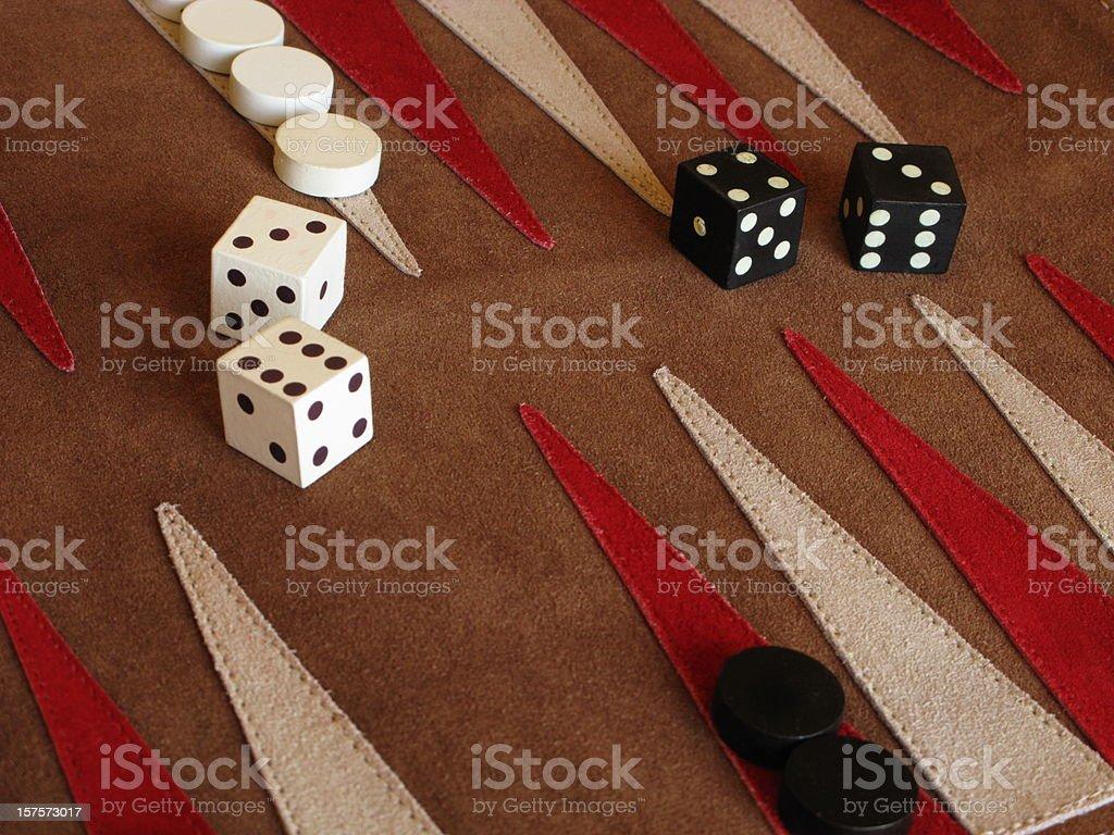 Backgammon Board Game Dice stock photo