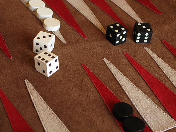 backgammon board game dice - backgammon stock pictures, royalty-free photos & images