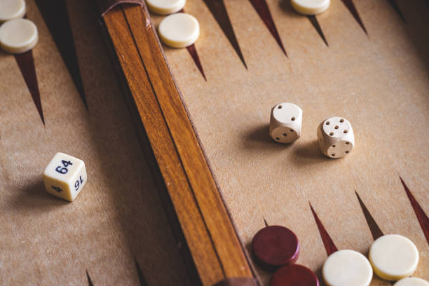 backgammon board game. - backgammon stock pictures, royalty-free photos & images