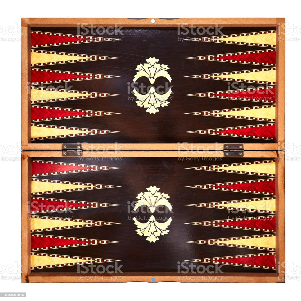 Backgammon board isolated stock photo