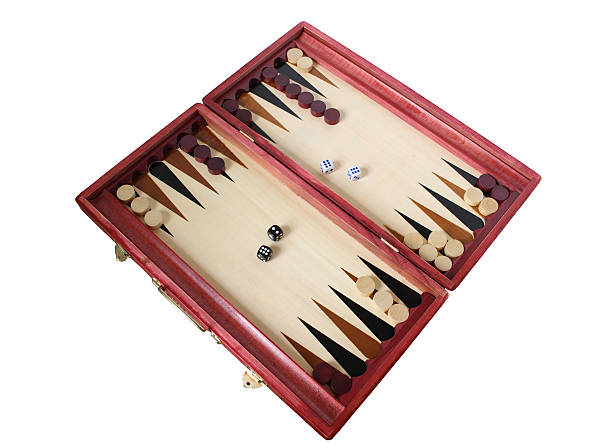 backgammon board - backgammon stock pictures, royalty-free photos & images
