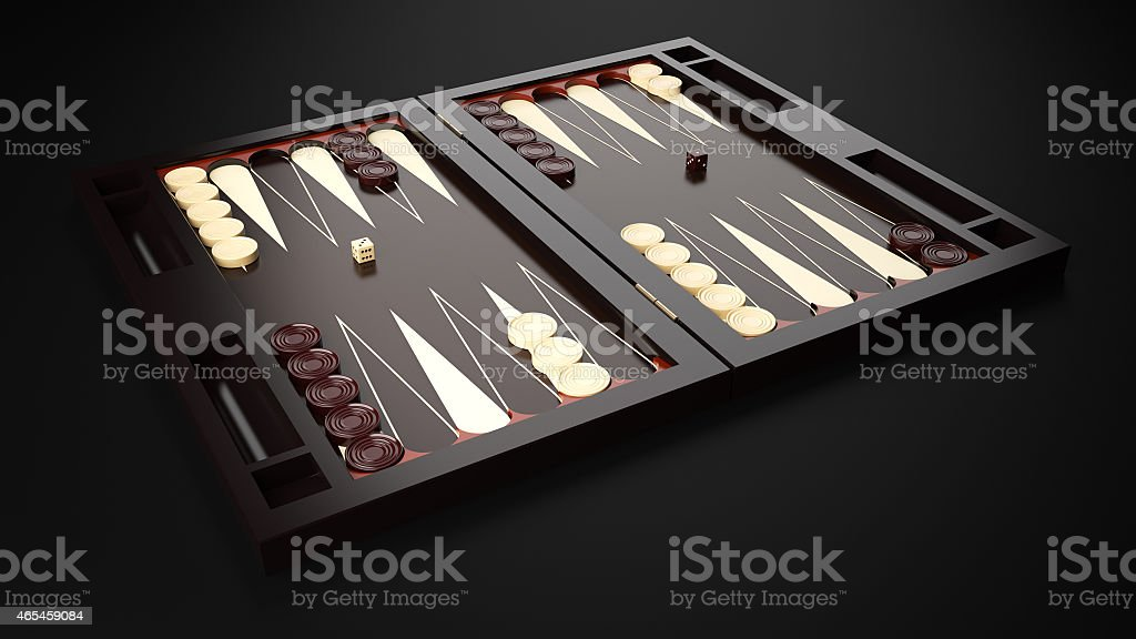 Backgammon Board stock photo