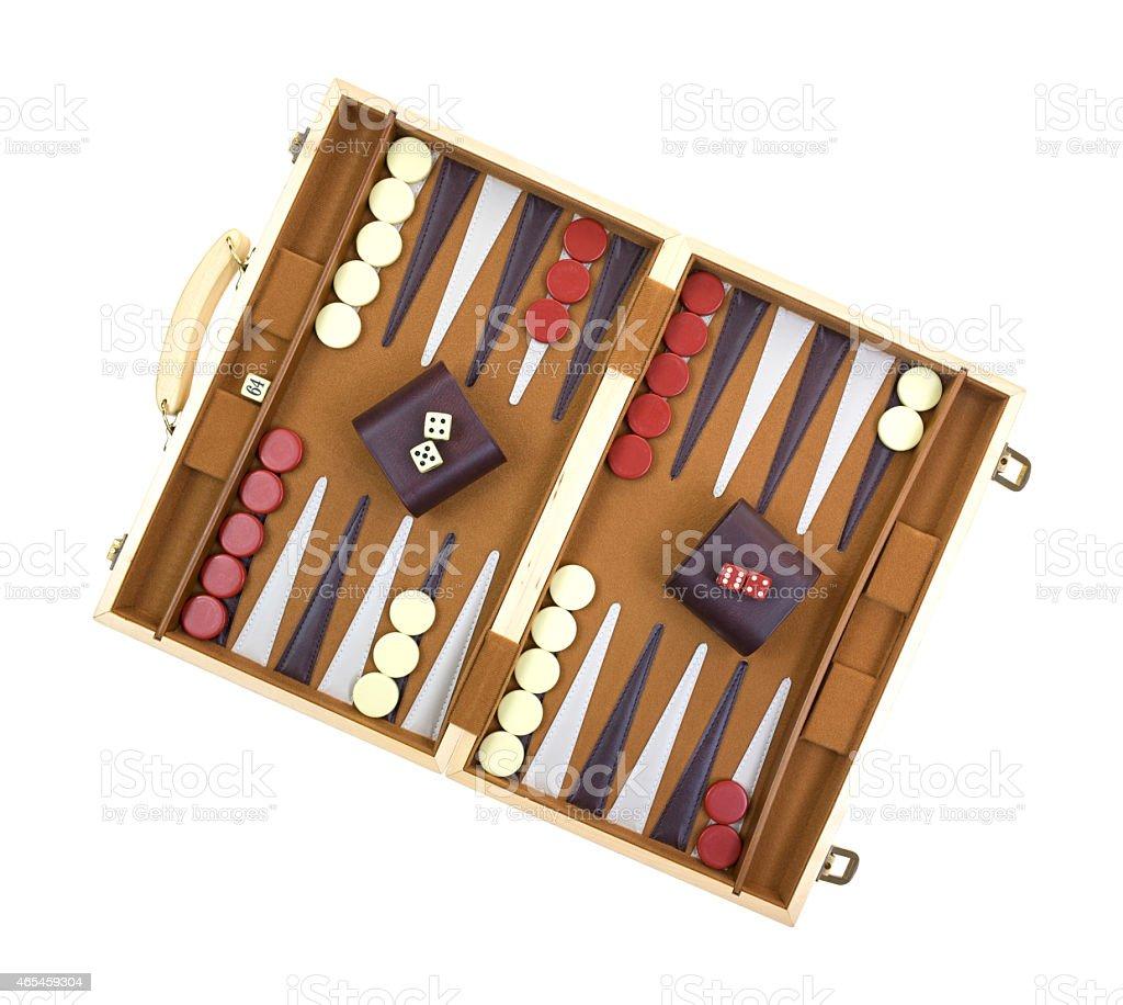 Backgammon game stock photo