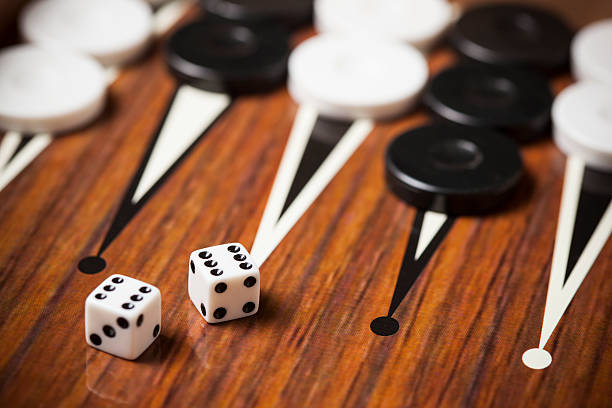 backgammon game - backgammon stock pictures, royalty-free photos & images