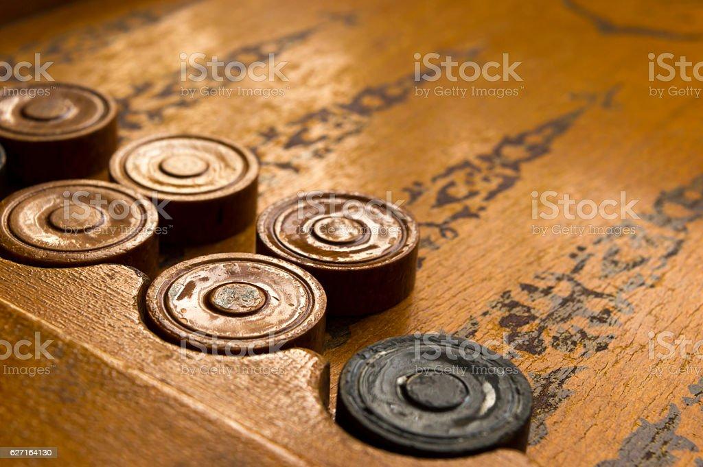 Backgammon game shot - Photo