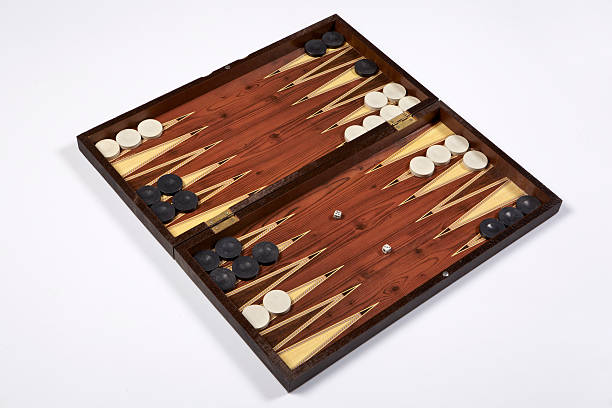 backgammon opened isolated on white background - backgammon stock pictures, royalty-free photos & images