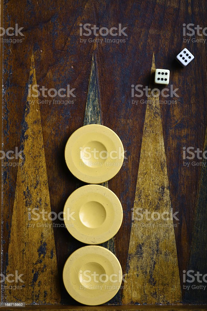 Backgammon stock photo
