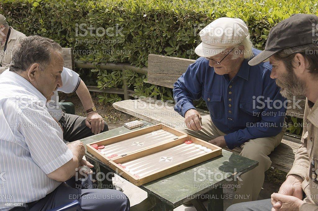 backgammon players stock photo
