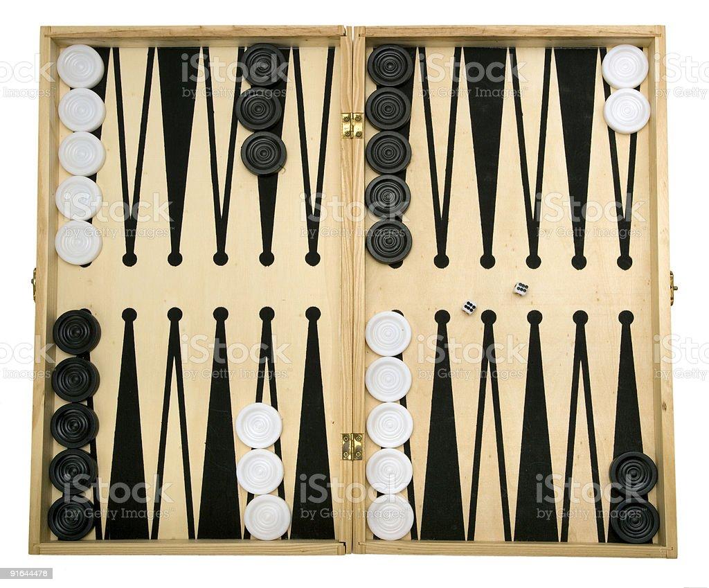 Backgammon Set stock photo