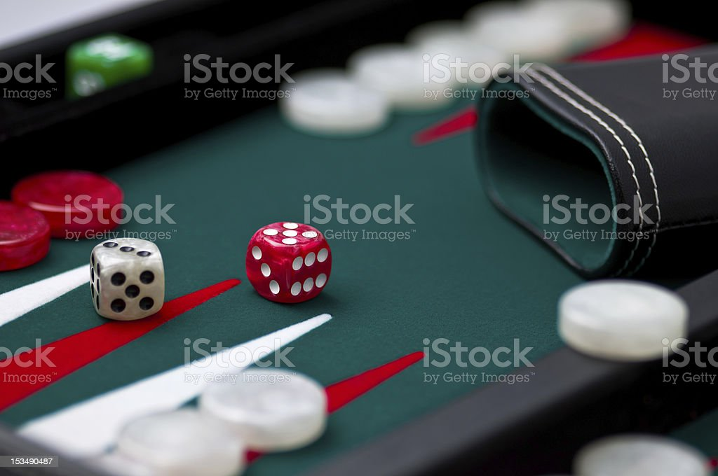 Backgammon Strategy game royalty-free stock photo