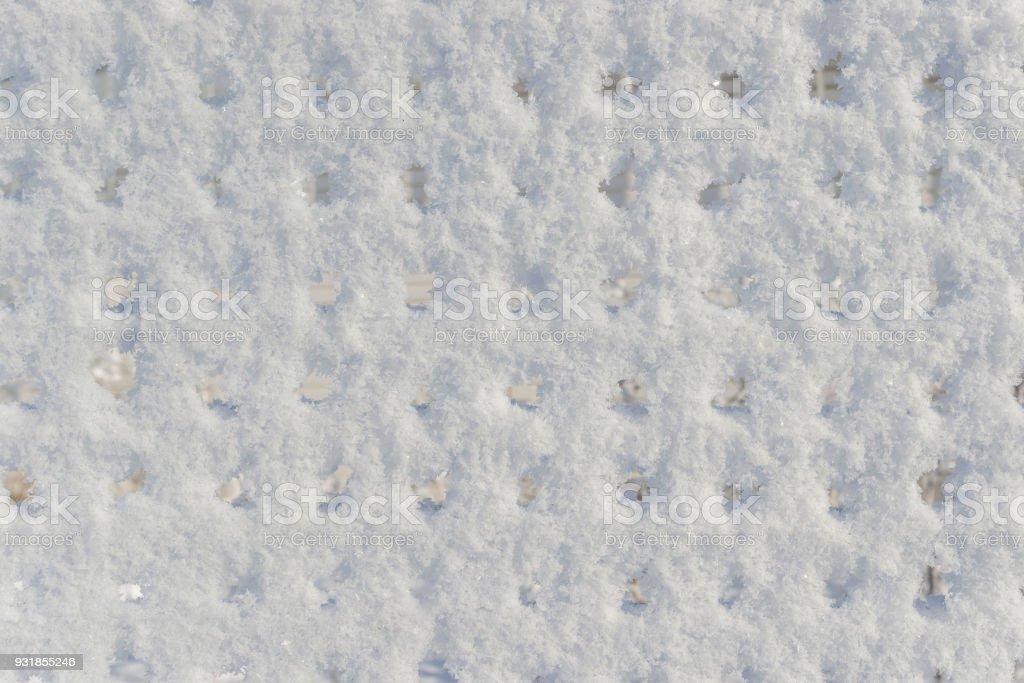 Background a non-uniform snow surface stock photo