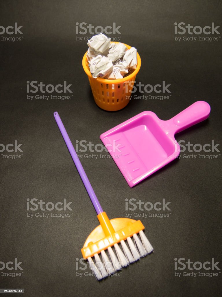 Background about cleaning in the office or kindergarten stock photo