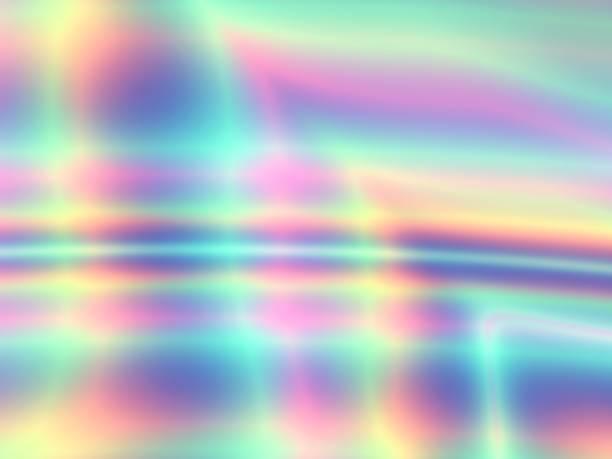 背景抽象的なカラフルなホイルのテクスチャ デザイン - ホログラム ストックフォトと画像