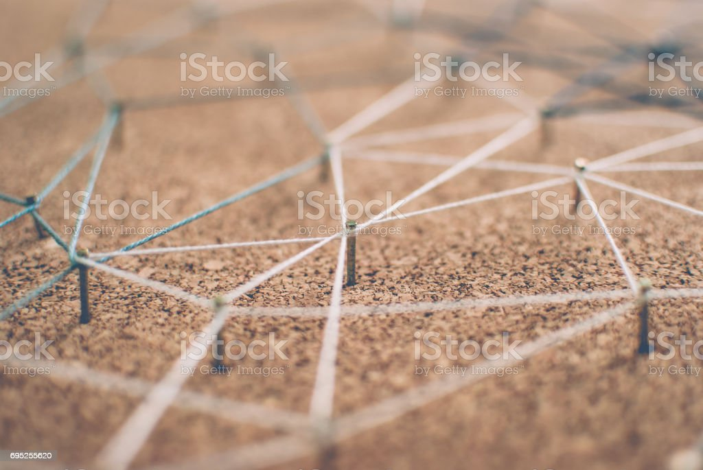 Background. Abstract concept of network, social media, internet,...