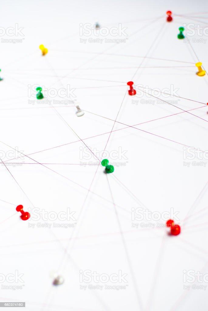 Arrière-plan. Idée abstraite du réseau internet, médias sociaux, communication, travail d'équipe. photo libre de droits