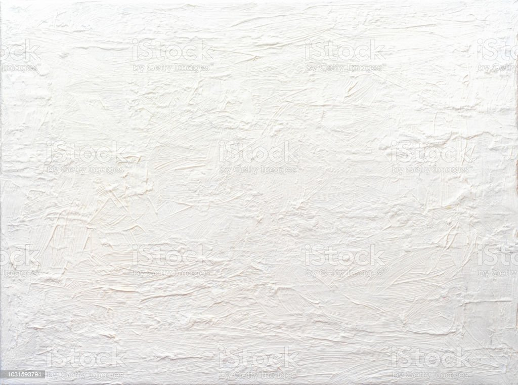 Background Abstract White Textured Acrylic Painting royalty-free stock photo