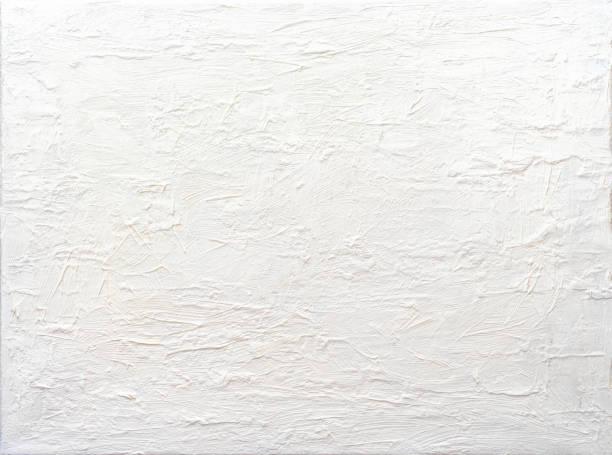 background abstract white textured acrylic painting - paint texture stock pictures, royalty-free photos & images