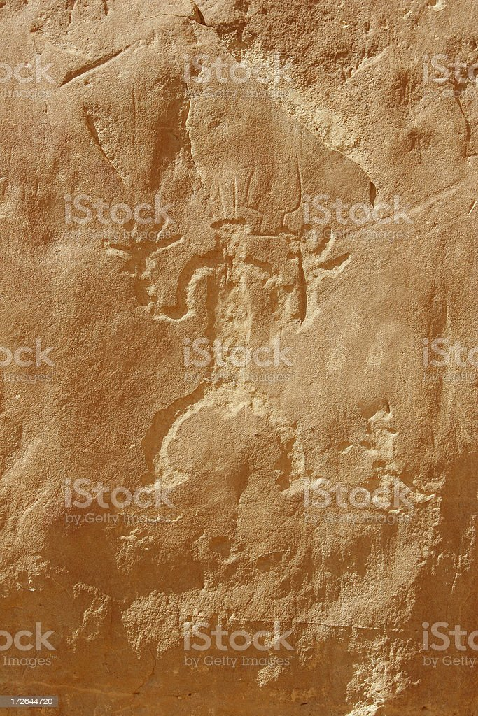 Background: Ancient Petriglyph royalty-free stock photo