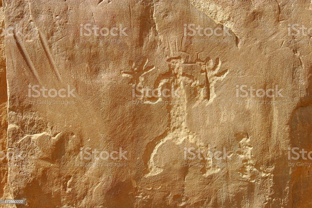 Background: Ancient Petriglyph stock photo