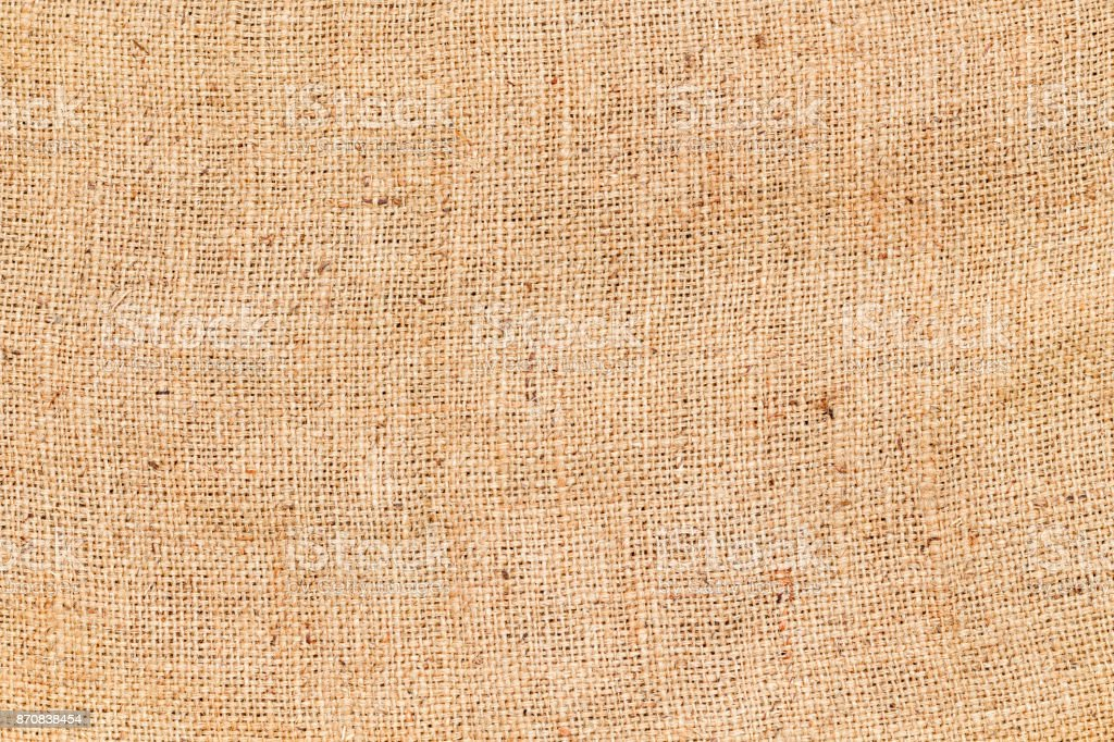 Background and texture of natural brown Sackcloth. stock photo