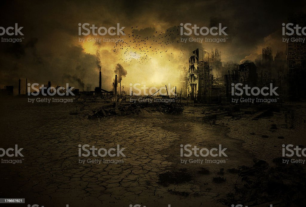 Background apocalyptic scenario stock photo