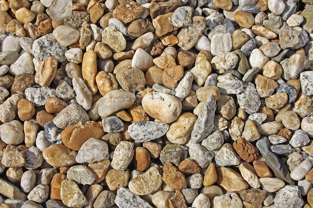 Background : Assorted Rocks and Pebbles royalty-free stock photo