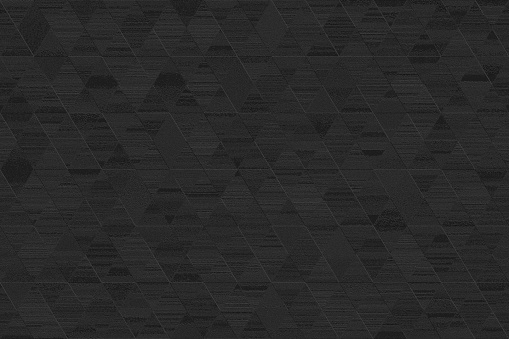 Background Black Total Triangle Grunge Tile Diamond Coal Geometric Texture Retro Style Night Pattern Seamless Design template for presentation, flyer, card, poster, brochure, banner
