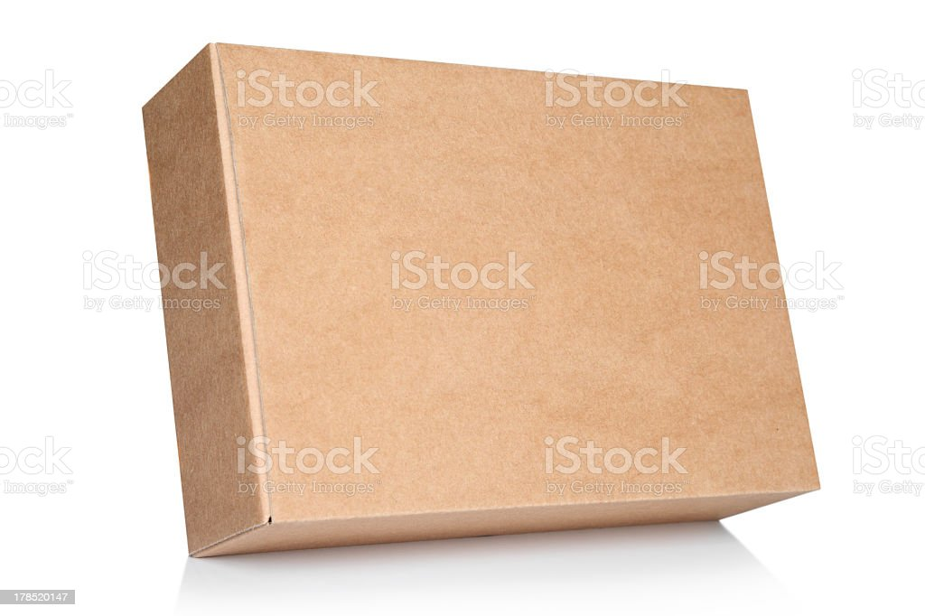 Background blank cardboard box stock photo