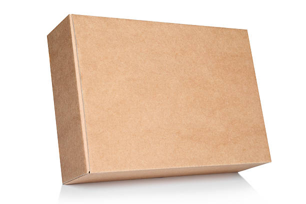 background blank cardboard box - brown stock photos and pictures