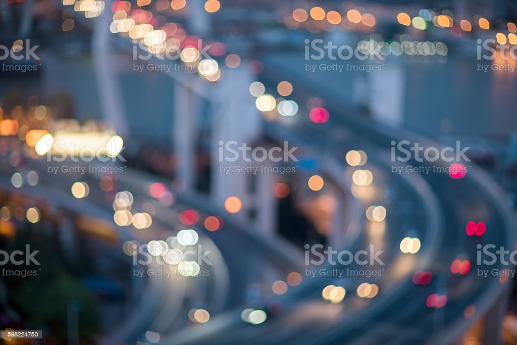 Background blur and bokeh in the streets foto royalty-free